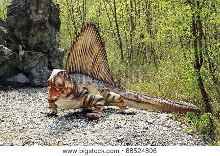 Model Of Dimetrodon Dinosaur