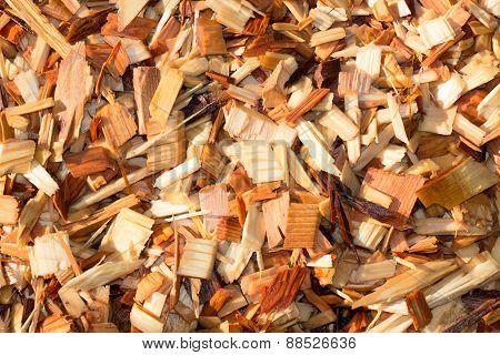 Wet Cedar Garden Wood Chips
