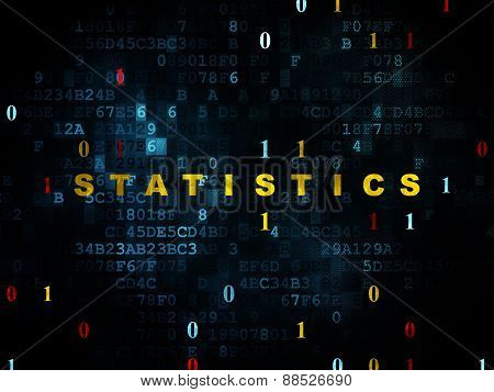 Business concept: Statistics on Digital background
