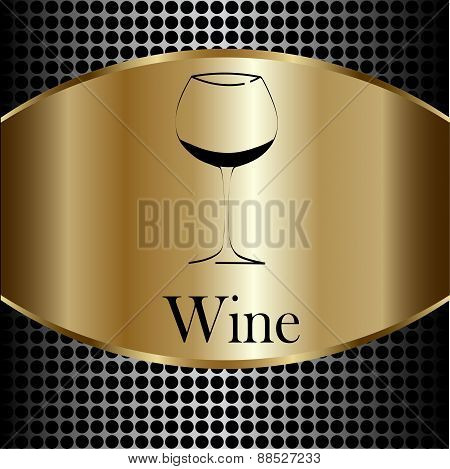Wine Glass Concept Menu Design.  Vector