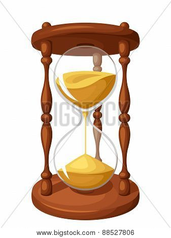 Hourglass isolated on white. Vector illustration.