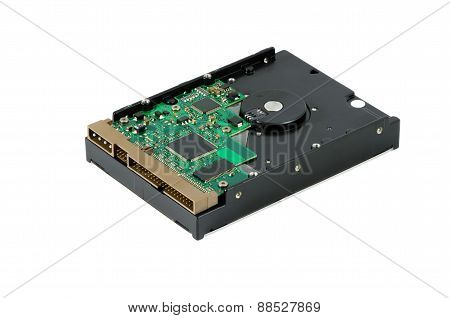 Hard Disk Computer On Isolated Background