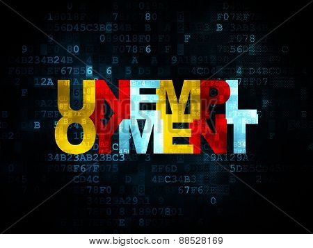 Finance concept: Unemployment on Digital background