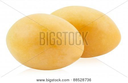 Sweet Marian Plum Thai Fruit Isolated On White Background (mayongchid Maprang Marian Plum And Plum M