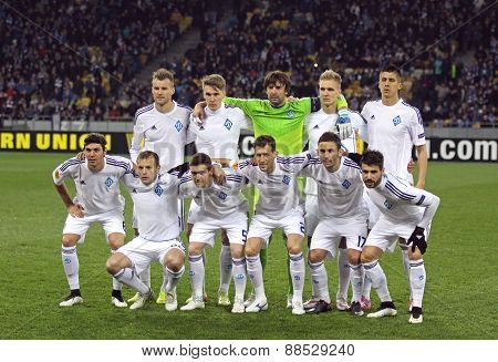 Fc Dynamo Kyiv Players Pose For A Group Photo