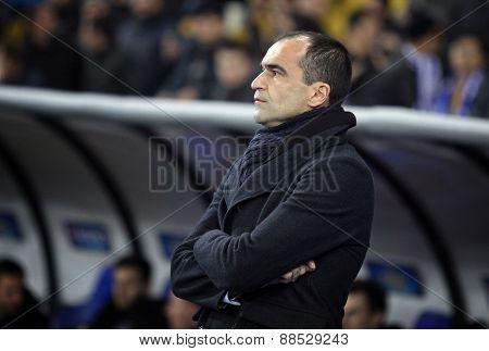 Fc Everton Manager Roberto Martínez