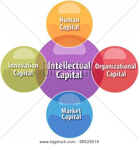 business strategy concept infographic diagram illustration of intellectual capital types
