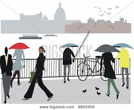 London fisherman illustration