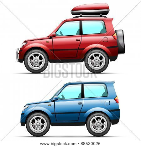 Icons Car jeep on a white background. illustration.