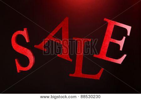 Sale on dark background