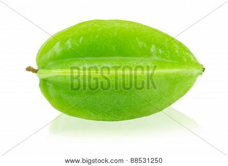 Fresh Star Fruit (carambola) Isolated On A White Background