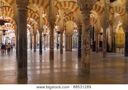 Interior Of The Great Mosque In Cordoba