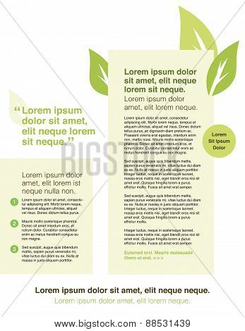 Page Layout Newletter