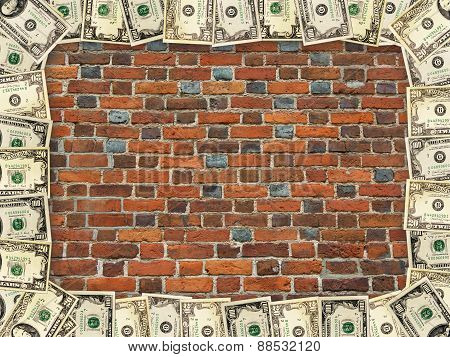 Frame From Dollars On The Red Brick Wall
