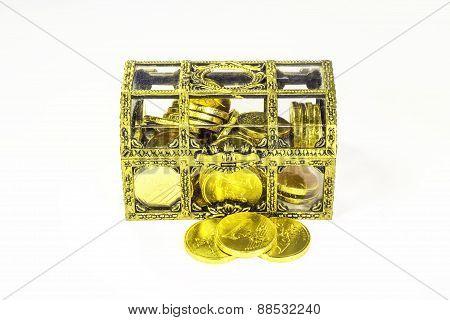 Golden Casket And Golden Coins