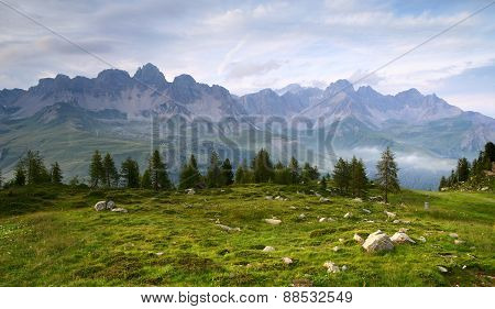 Panoramic View From Dolomiti Italy