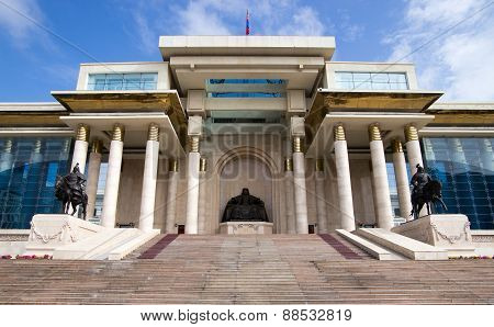 Palace Of Mongolian Government In Ulaanbaatar