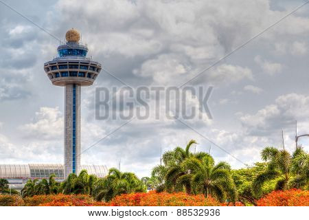 Singapore Changi Airport Traffic Controller Tower