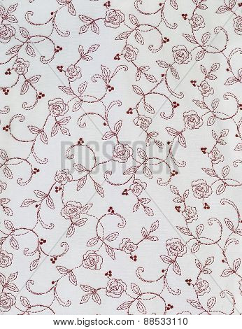 Rose Flowers And Leaf Pattern