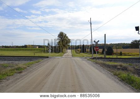 Gravel road and countryside