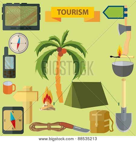 illustration. Tourism.