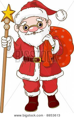 Santa With Sack Of Gifts
