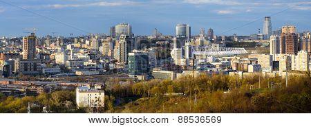 Kiev, Ukraine, April 20, 2015. Kiev cityscape in spring.
