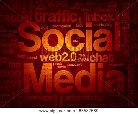 Social Media Background / Wordcloud