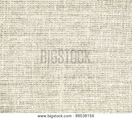 Burlap antique white texture background