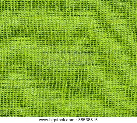 Burlap apple green texture background