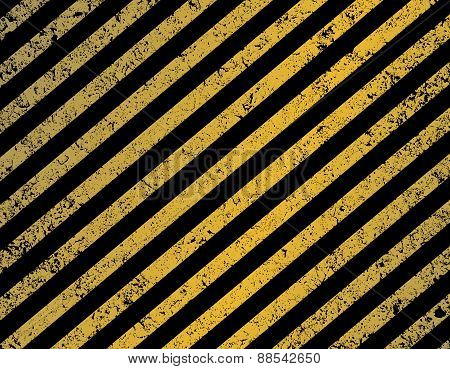 Diagonal Black And Yellow Stripes