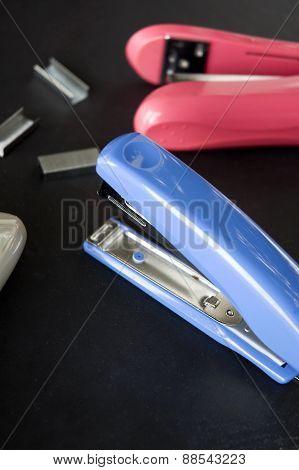 Close Up Blue Stapler