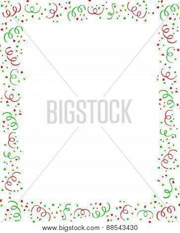 Christmas Confetti Frame