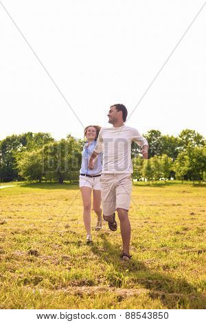 Youth Lifestyle Concept: Beautiful Caucasian Couple Having Their Outdoor Holiday Together