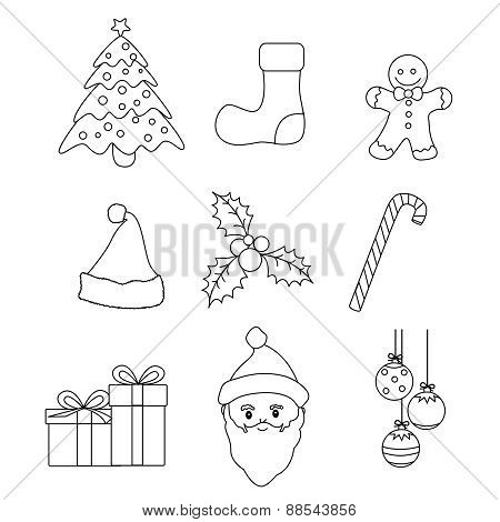 Christmas Clip Art Coloring Page