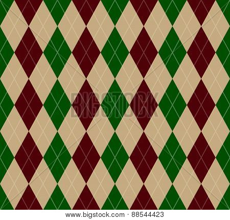 Seamless Christmas Argyle Pattern