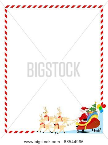 Santa And Gifts Christmas Frame