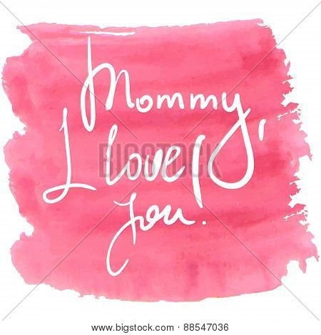 Lettering For Mothers Day