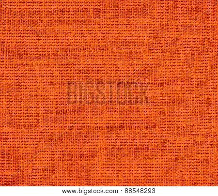 Burlap Orange (Pantone) texture background