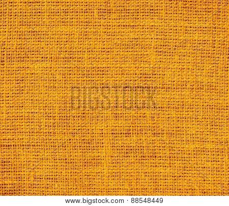 Burlap orange texture background