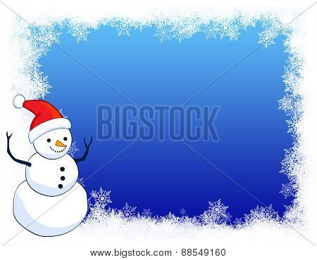 Snowman Bacckground