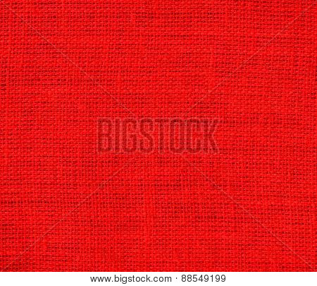 Burlap red texture background