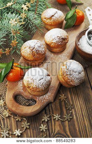 Muffins With Sugar Powder