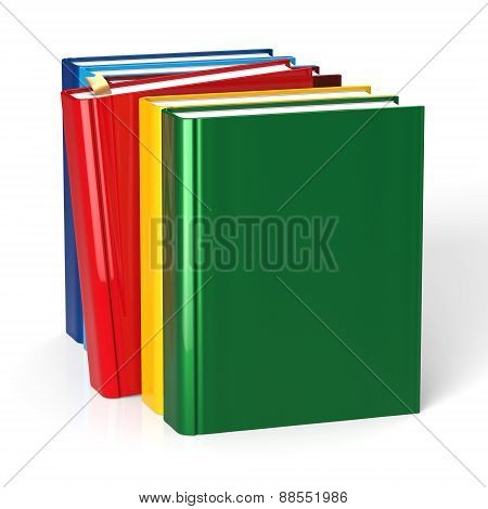 Books Textbook Selecting Red Blank Covers Raw Colorful Choice