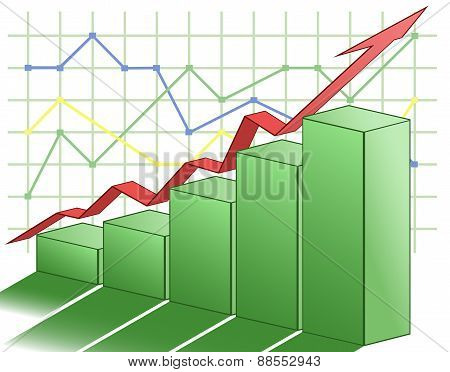 3d business graph
