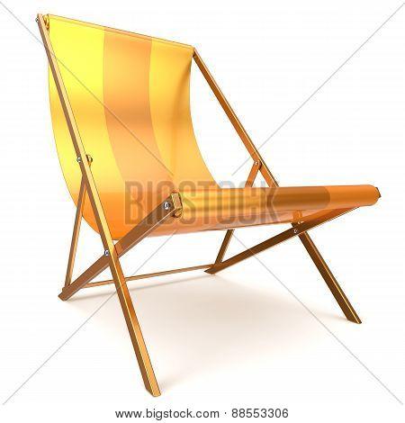 Beach Chair Chaise Longue Yellow Relaxation Tropical Sunbathing