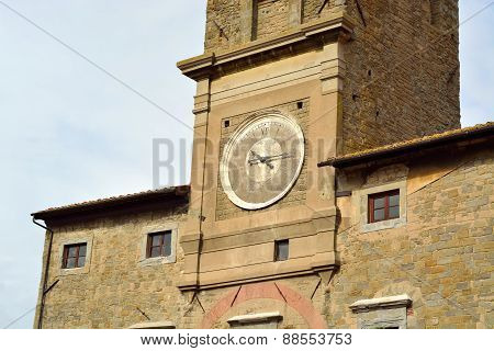 Detail of the Tower of Cortona
