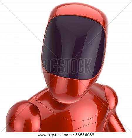 Robot Cyborg Dummy Red Futuristic Bot Spaceman Concept