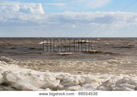 the shore ice