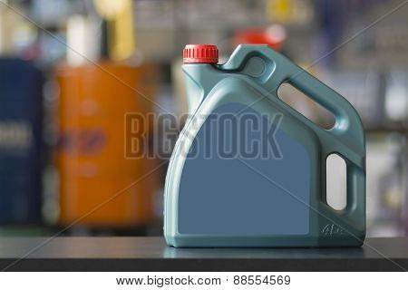 Engine Oil Canister With Blank Label